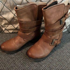 LIKE NEW - Steve Madden Genuine Leather Boot Sz 7